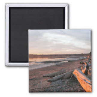 Sunset at Birch Bay 2 Inch Square Magnet