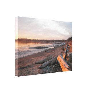 Sunset at Birch Bay Gallery Wrapped Canvas