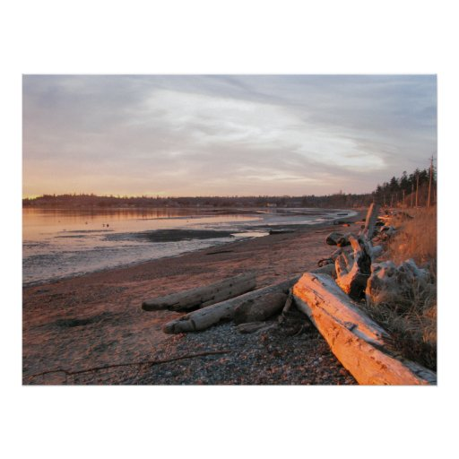 Sunset at Birch Bay Posters
