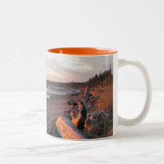 Sunset at Birch Bay Two-Tone Coffee Mug