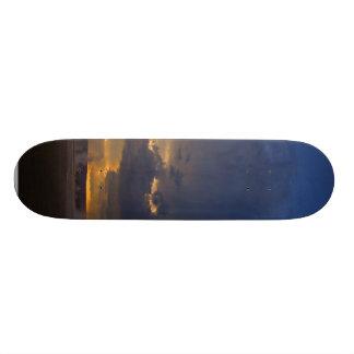 Sunset At Biscuit Basin Skate Board Deck
