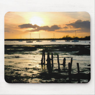 Sunset at Bosham Harbour, West Sussex, England. Mouse Pads
