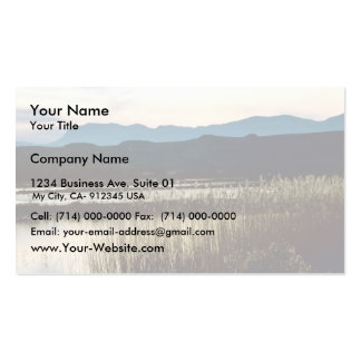 Sunset at Bosque del Apache Business Card Template