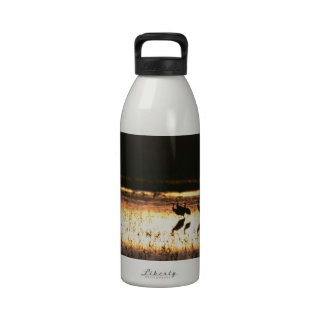 Sunset at Bosque del Apache National Park Drinking Bottles