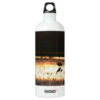 Sunset at Bosque del Apache National Park Water Bottle