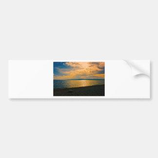 Sunset at Brela, Croatia. Bumper Sticker