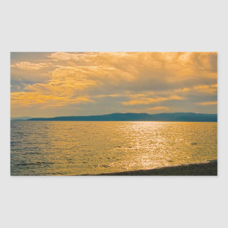 Sunset at Brela, Croatia. Rectangular Sticker