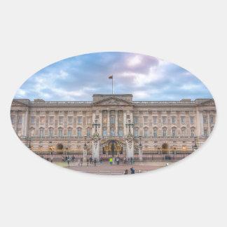 Sunset at Buckingham Palace, London Oval Sticker