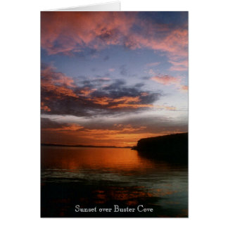 Sunset at Buster's Cove Greeting Card