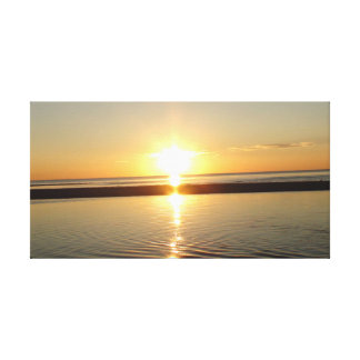Sunset at Cape Cod Stretched Canvas Wall Hanging