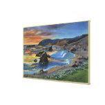 Sunset at Cape San Sabastian on Oregon Canvas Print