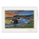 Sunset at Cape San Sabastian on Oregon Greeting Card
