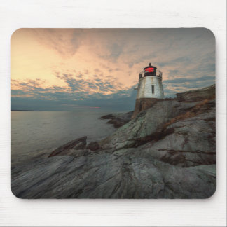 Sunset At Castle Hill Lighthouse Mouse Pad