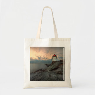 Sunset At Castle Hill Lighthouse Tote Bag