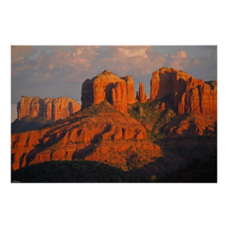 Sunset at Cathedral Rock 394 Poster