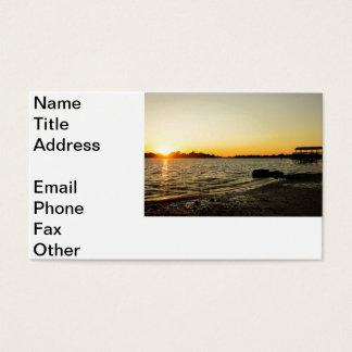 Sunset at Cedar Key Business Card