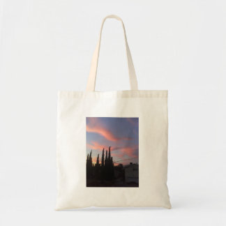 sunset at chevy chase budget tote bag