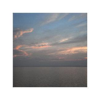 Sunset at Chincoteague Island in Virginia Canvas Print