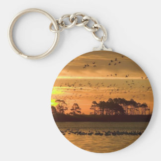 Sunset at Chincoteague Keychain
