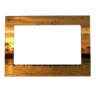 Sunset at Chincoteague Wildlife Refuge Virginia Magnetic Frames