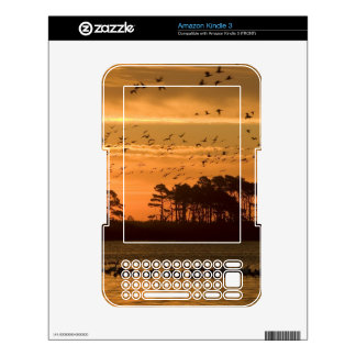Sunset at Chincoteague Wildlife Refuge Virginia Decals For The Kindle 3