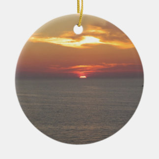 Sunset at Clearwater Ceramic Ornament