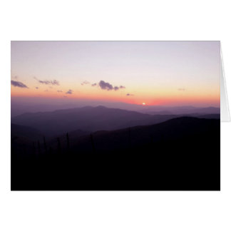 Sunset at Clingman's Dome Card