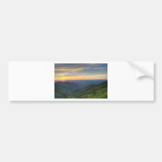 Sunset at Craggy Gardens Bumper Sticker