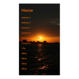 Sunset at Danshui, Taipei County, Taiwan Double-Sided Standard Business Cards (Pack Of 100)