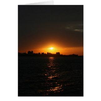 Sunset at Danshui, Taipei County, Taiwan Greeting Card