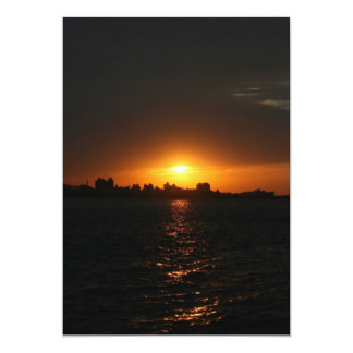 Sunset at Danshui, Taipei County, Taiwan 5x7 Paper Invitation Card