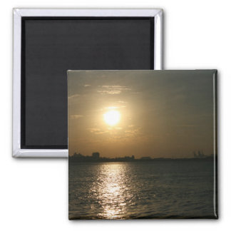 Sunset at Danshui, Taipei County, Taiwan 2 Inch Square Magnet