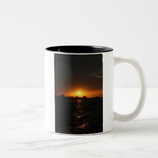 Sunset at Danshui, Taipei County, Taiwan Two-Tone Coffee Mug