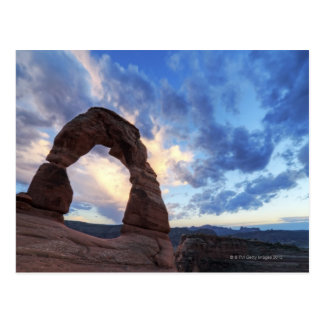 Sunset at Delicate Arch Postcard