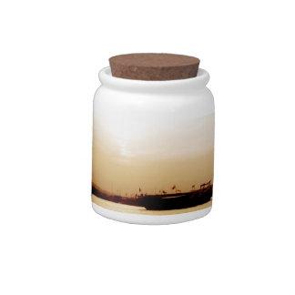 Sunset at Doha Fishermen's Port Candy Jar