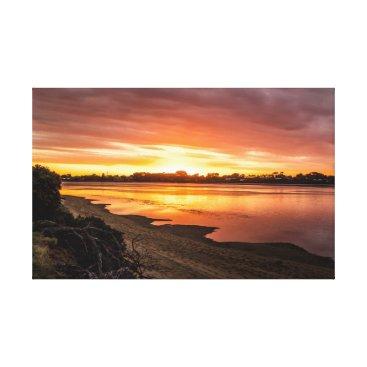 Beach Themed Sunset at Dusk Canvas Print