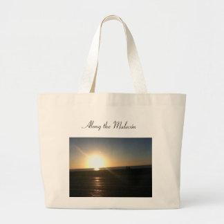 Sunset at El Malecón Large Tote Bag