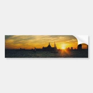 Sunset at Ellis Island Bumper Sticker