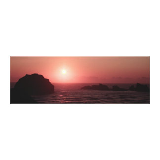 Sunset at Face Rock Art Wrapped Canvas