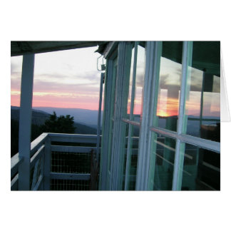 Sunset  at Fall Mountain Fire Lookout Card