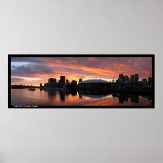 Sunset at False Creek Poster