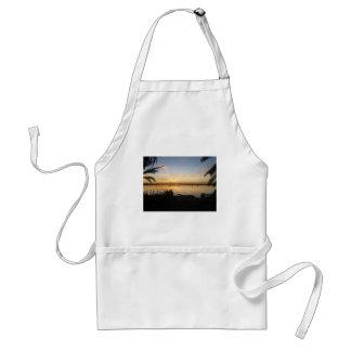 Sunset at Fatnas Island, Siwa Oasis, Africa Adult Apron