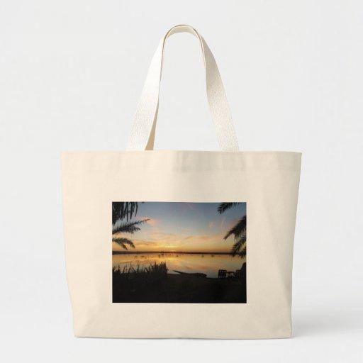 Sunset at Fatnas Island, Siwa Oasis, Africa Bags