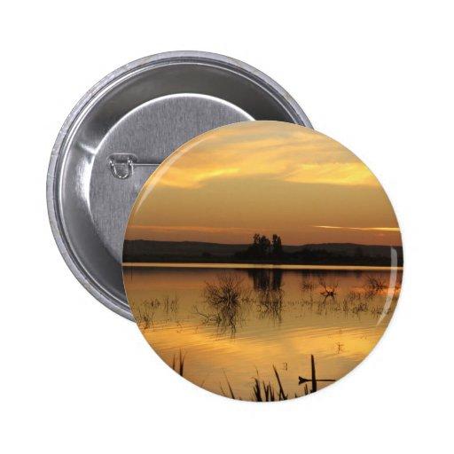 Sunset at Fatnas Island, Siwa Oasis, Africa Pinback Buttons
