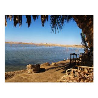 Sunset at Fatnas Island, Siwa Oasis, Africa Postcard