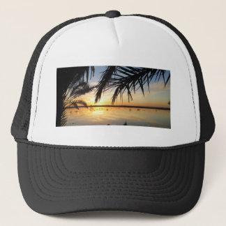 Sunset at Fatnas Island, Siwa Oasis, Africa Trucker Hat