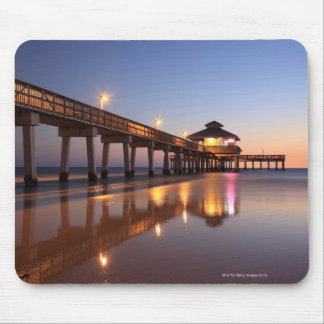 Sunset at Fishing Pier, Fort Myers Beach, Mouse Pad