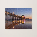 Sunset at Fishing Pier, Fort Myers Beach, Jigsaw Puzzles