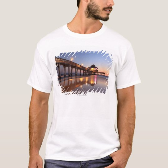 Sunset at Fishing Pier, Fort Myers Beach, T-Shirt