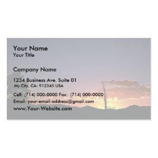 Sunset at Flaming Gorge in Utah Business Card Template